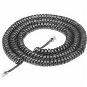 25', Black, Coiled Modular Handset Cord