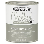 Country Gray Chalked Paint, 30 Oz.