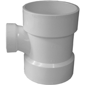 "4""x4""x2"" PVC-DWV Reducing Sanitary Tee(HxHxH)"