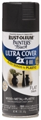 2X Painter's Touch Spray Paint Flat Black