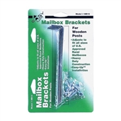 Gibraltar Mailboxes MB100000 Mounting Bracket, Galvanized Steel, For Wooden Mailbox Posts