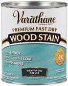 Premium Fast Dry Wood Stain, Vintage Aqua, 1 Quart