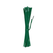 """T002GT Green Thumb, 100 Pack, 8"""", Plastic Coated Wire Tie"""