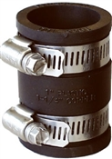 """Rubber Pipe Connector, 3"""" x 3"""""""