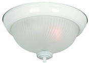 1 Light White Dome Indoor Ceiling Fixture
