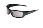 Satin Black Full Frame Sunglasses With Smoke Lens
