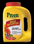 Preen 24-63795 Weed Killer, 5.625 Lb, Canister, 900 Sq-Ft, Yellow, Granular