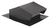 "8"" Rectangular Roof Cap - Black"