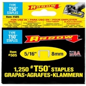"5/16"" Heavy Duty Staples, 1250 Pack"