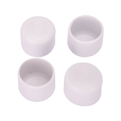 Prosource FE-50616-PS Furniture Leg Tip, Round, Plastic, White