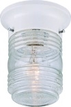 Exterior Jelly Jar Ceiling Fixture, White
