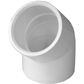 "1-1/4"" 45 Elbow Schedule 40 PVC"