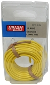 "20"" Yellow 14AWG Primary Wire"