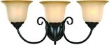 Essex 3 Light Wall Sconce, Classic Bronze Finish