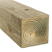 "6x6-16' (Actual: 5-1/2""x5-1/2"") #2 Waxed Ground Contact Treated Pine"