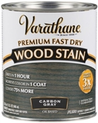 Premium Fast Dry Wood Stain, Carbon Gray, 1 Quart