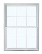 2650 300 Insulated Low-E Glass 6/6 Bronze Single Hung Window