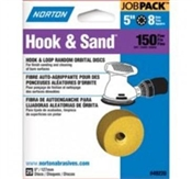 "5"" 150 Grit Hook & Loop Sanding Disc - 25 Pack"