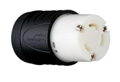 Locking Connector, 30-Amp, 250-Volt, Black/White