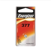 Energizer Coin Cell Battery, 377 Battery, Silver Oxide, 1.5 V Battery