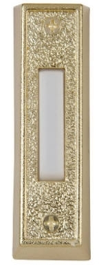 Lighted White And Gold Doorbell Button Housing