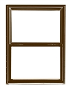 2844 300 Insulated Low-E Glass 1/1 Bronze Single Hung Window