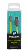 FUSEBOX 131 1704 FB2 Flexible Lightweight Micro USB Cable, 4 ft L
