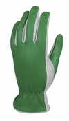 Green Thumb, Large, Women's, Goatskin Leather Garden Glove