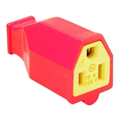 Orange 15 Amp 125 Volt 3 Wire Heavy Duty Connector