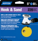 "5"" 100 Grit Hook & Loop Sanding Disc - 4 Pack"