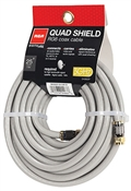25', 18 Awg, Gray, Quad Shield RF6 Coaxial Cable