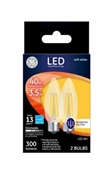Decorative LED Light Bulbs, Dimmable, Soft White, Clear, 200 Lumens, 2.5-Watts, 2-Pk.