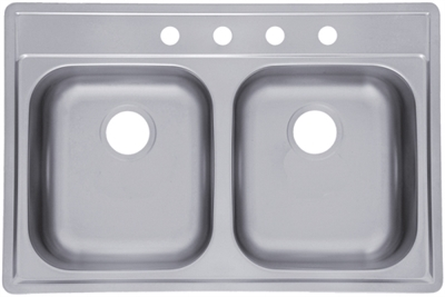 "7"" Stainless Steel Double Sink"