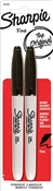 Black Fine Point Permanent Markers (2-Pack)