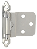 "3/8"" Offset Self-Closing Cabinet Hinge - Satin Nickel"