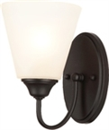 Galveston 1 Light Wall Sconce, Black Finish