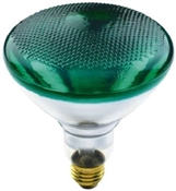 100 Watt BR38 Flood Bulb Green