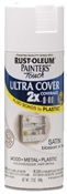 2X Painter's Touch Spray Paint Satin Blossom White