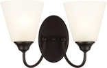 Galveston 2 Light Wall Sconce, Black Finish