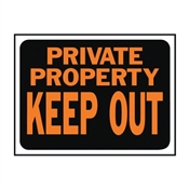 SIGN PRIVATE PROPERTY PLASTIC