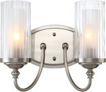 Lexington 2 Light Wall Sconce, Satin Nickel Finish