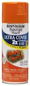 2X Painter's Touch Spray Paint Gloss Real Orange