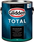 Glidden Total Interior Paint+ Primer, White Eggshell, 1 Gallon