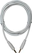 6', 3.5 mm, White, Premium MP3 Audio Cable