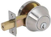 Commercial Single Cylinder Deadbolt Stainless Steel