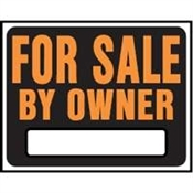 For Sale By Owner Jumbo Plastic Sign