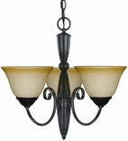 Essex 3 Light Chandelier, Classic Bronze