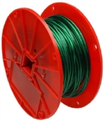 "1/16"" Cable Green Vinyl Coated Galvanized 250'"