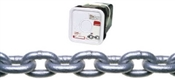 "1/4"" PROOF COIL CHAIN GALVANIZED 100' BUCKET"