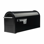Black Standard Post Mount Mailbox